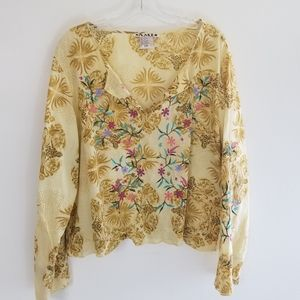 Boho A.M.I. Floral Embroidered Blouse